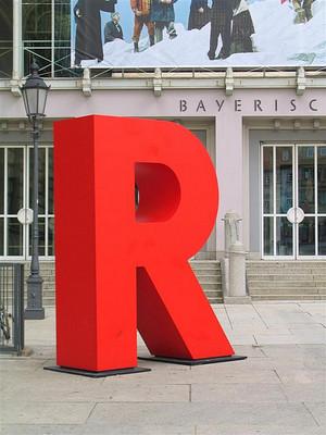 duża litera R